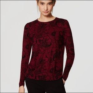 LOFT | Paisley light weight sweater